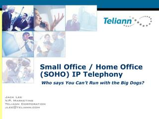 Small Office / Home Office (SOHO) IP Telephony