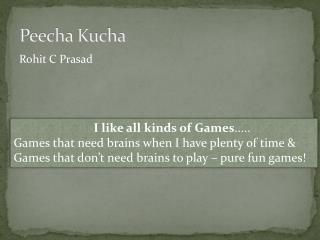 Peecha Kucha