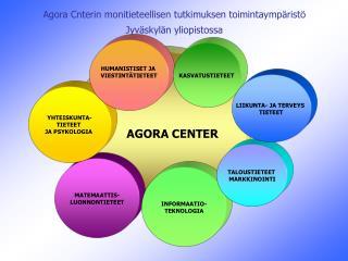 Agora Cnterin monitieteellisen tutkimuksen toimintaympäristö Jyväskylän yliopistossa