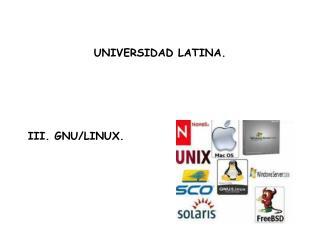 III. GNU/LINUX.