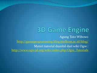 3D Game Engine