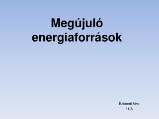 Megújuló e nergiaforrások
