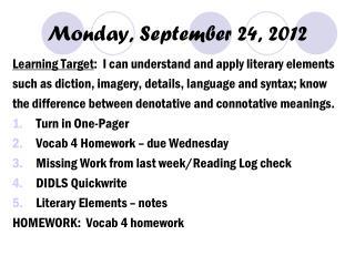 Monday, September 24, 2012