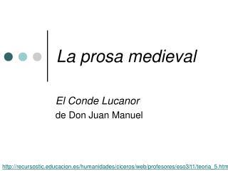 La prosa medieval