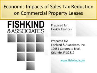 Economic Impacts of Sales Tax Reduction on Commercial Property Leases