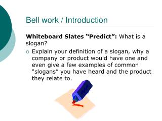 Bell work / Introduction