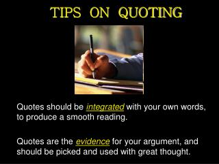 TIPS  ON  QUOTING