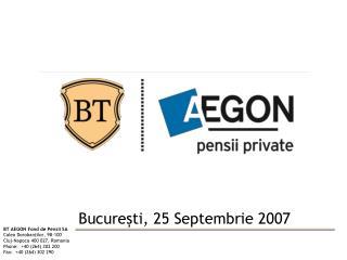 București, 25 Septembrie 2007