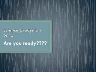 Science Exposition 2014
