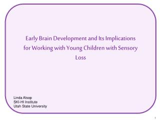 Early Brain Development and Its Implications for Working with Young Children with Sensory Loss