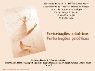 Universidade de Trás-os-Montes e Alto Douro Departamento de Ciências Humanas e Educação