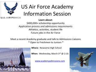 US Air Force Academy Information Session