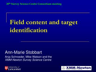 Field content and target identification