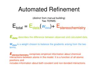 Automated Refinement