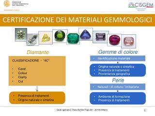 Identificazione materiale