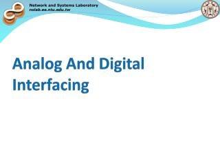 Analog And Digital Interfacing