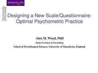 Designing a New Scale/Questionnaire: Optimal Psychometric Practice