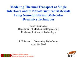 Modeling Thermal Transport at Single Interfaces and in Nanostructured Materials Using Non-equilibrium Molecular Dynamics