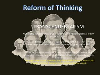 Reform of Thinking