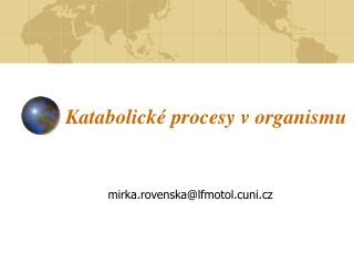 Katabolické procesy v organismu