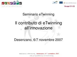 Seminario eTwinning Il contributo di eTwinning all'innovazione