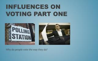 Influences on Voting Part One