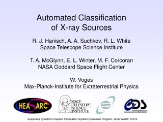 Automated Classification of X-ray Sources
