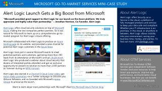 Alert Logic Launch Gets a Big Boost from Microsoft