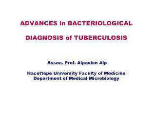 Tuberculosis in the World