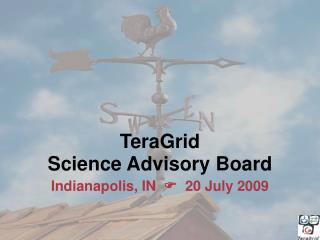 TeraGrid Science Advisory Board  Indianapolis, IN     20 July 2009