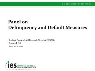 Panel on Delinquency and Default Measures