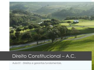 Direito Constitucional  �  A.C.