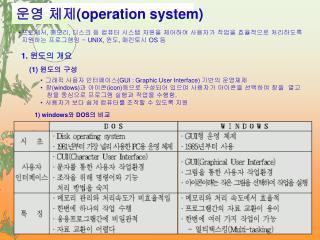 운영 체제 (operation system)