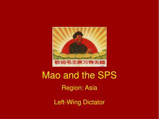 Mao and the SPS