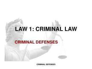 LAW  1 : CRIMINAL LAW