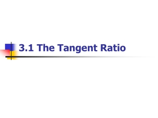 TANGENT RATIO