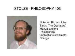 STOLZE - PHILOSOPHY 103