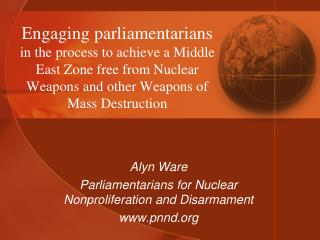 Alyn Ware Parliamentarians for Nuclear Nonproliferation and Disarmament pnnd
