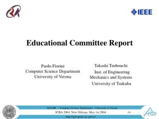 Educational Committee Report