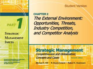 CHAPTER 2 The External Environment: Opportunities, Threats, Industry Competition, and Competitor Analysis