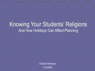 Religion and Schools
