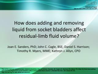 How does adding and removing  liquid from socket bladders affect residual-limb fluid volume?