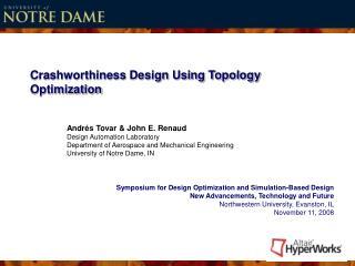 Crashworthiness Design Using Topology Optimization