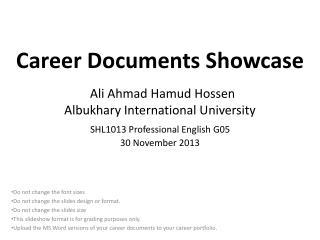 Career Documents Showcase