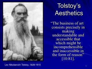Tolstoy's Aesthetics