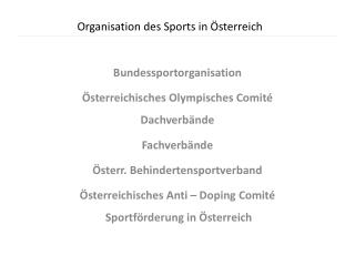 Organisation des Sports in �sterreich