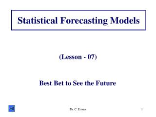 Statistical Forecasting Models