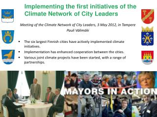 Implementing the first initiatives of the Climate Network of City Leaders