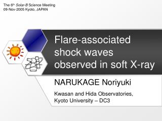 Flare-associated shock waves observed in soft X-ray