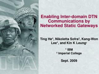 Enabling Inter-domain DTN Communications by Networked Static Gateways
